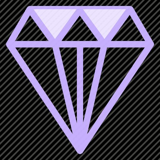 diamond, jewellery, quality icon