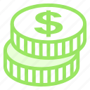 coin, dollar, finacial, money icon