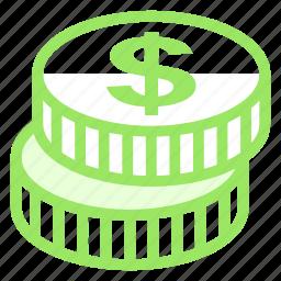 coin, dollar, finacial, money icon