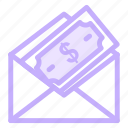email, letter, message, payment, widraw icon