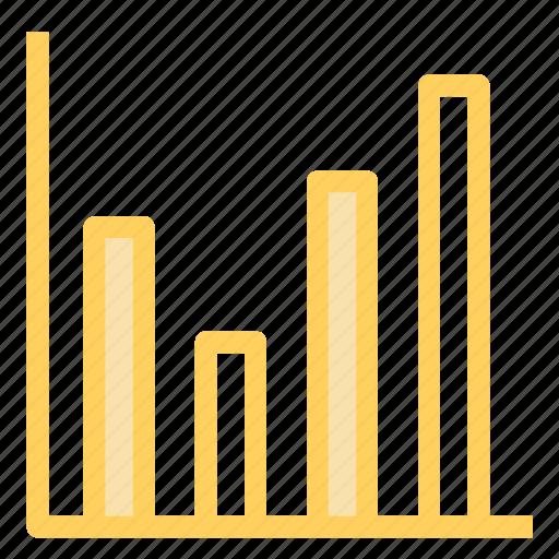 graph, increasing, progress, statistics icon