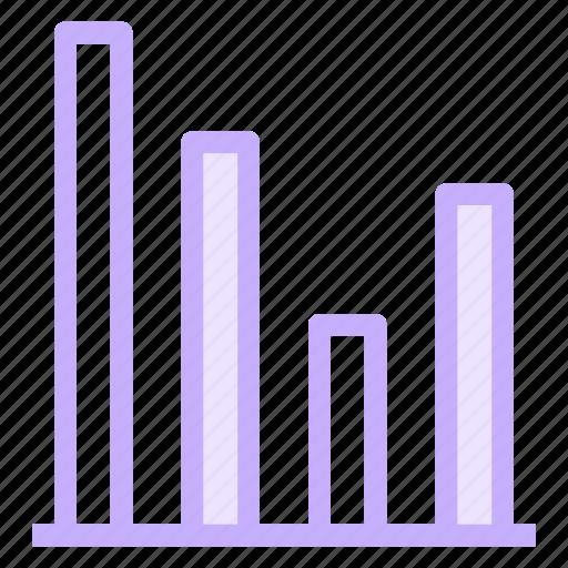 chart, columns, graph, infographic, progress icon