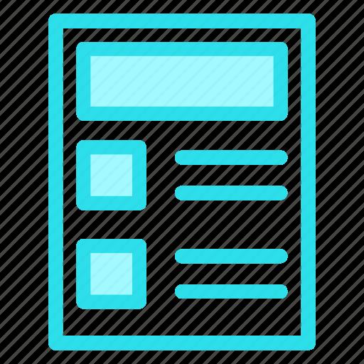 checklist, document, form, list, report icon