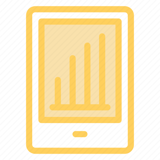 analytics, infographic, mobilegraph, onlinegraph icon