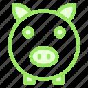 bank, finance, piggy, savingsicon icon