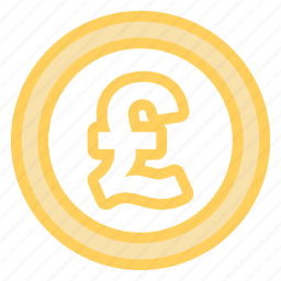 coin, money, pound, sterling icon