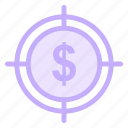 business, financial, money, targeticon icon