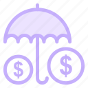 insurance, protection, security, umbrella, weathericon icon