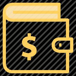 cash, finance, moneyinwallet, walleticon icon