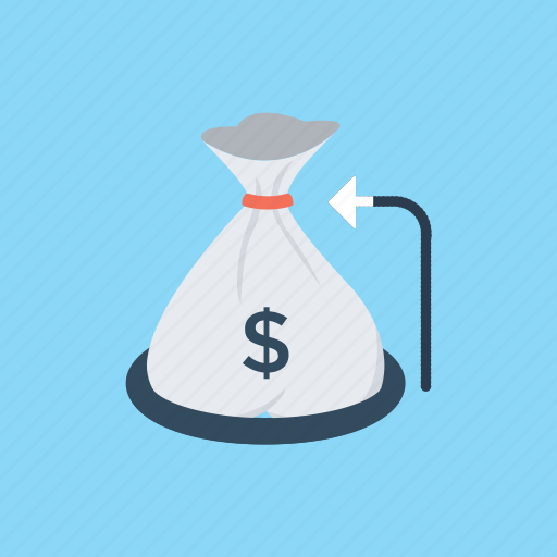 finance concept, financial solutions, money bag, savings, wealth accumulation icon