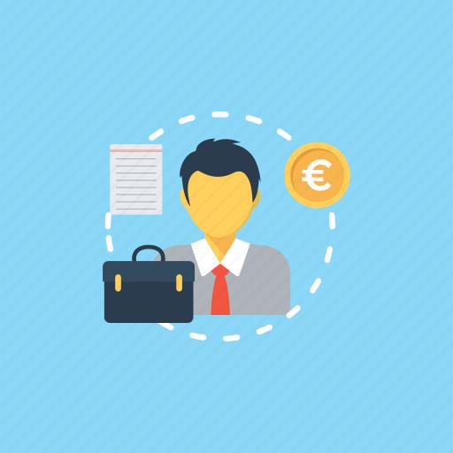 business owner, business person, businessman, capitalist, entrepreneur icon