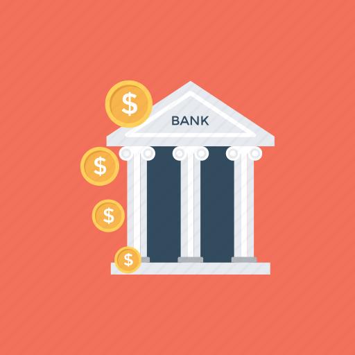 bank, bank building, bank exterior, bank office, stock exchange icon