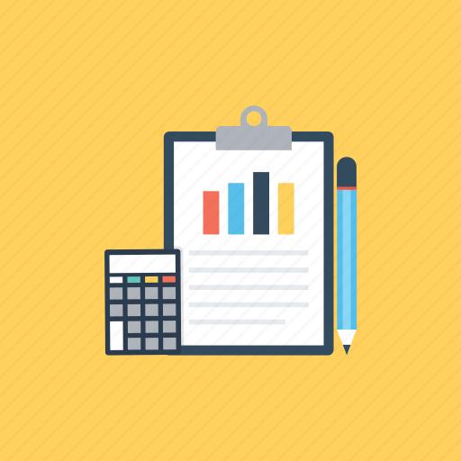 accounting, calculation, economics, finance, statistics icon