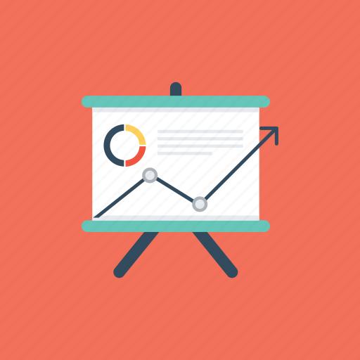 business presentation, marketing analysis, marketing report, projection screen, statistics icon