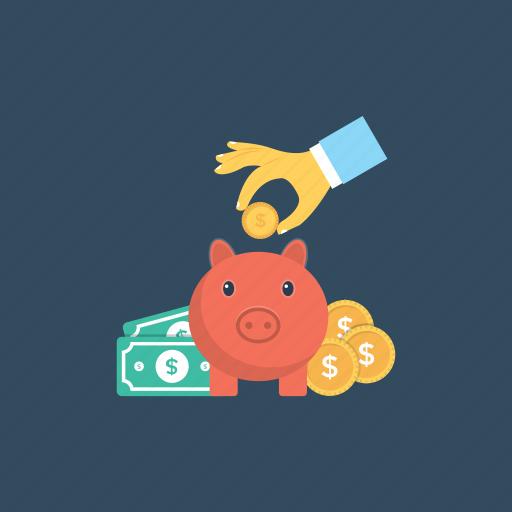 investment, piggy bank, retirement planning, save money, savings icon