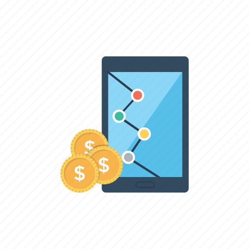 business app, finance, financial app, financial market, marketing app icon