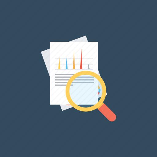 economic analysis, financial audit, financial service, financial statement audit, statistics icon