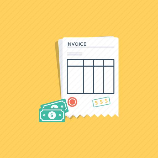 bank receipt, bill, cash receipt, invoice, payment receipt icon