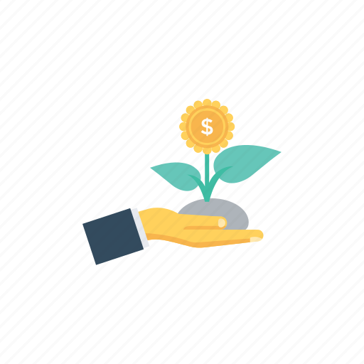 business growth, business success, dollar with plant, financial growth, profit icon