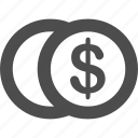 bank, dollar, exchange, financial, internet, technology icon