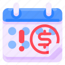 bank, business, calendar, commercial, economy, finance icon