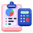 bank, business, calculator, clipboard, commercial, economy, finance icon