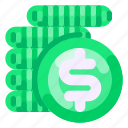 bank, business, coin, commercial, economy, finance icon