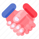 bank, business, commercial, economy, finance, handshake icon