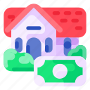 bank, business, commercial, economy, finance, house, money icon