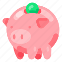 bank, business, commercial, economy, finance, piggy icon