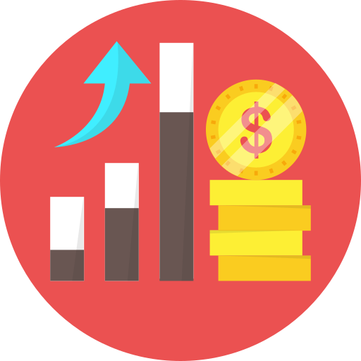 analytics, business report, chart, dollar, statistics icon