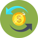 banking, coin, dollar, money, transfer icon