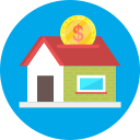 coin, dollar, house, investment icon
