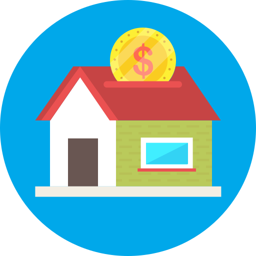 Coin, dollar, house, investment icon - Free download