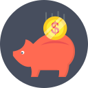 coin, dollar, investment, piggy bank icon