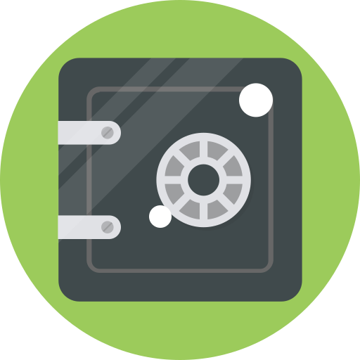 bank, banking, safe, secure icon