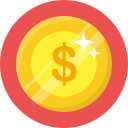 coin, dollar, money, shine icon