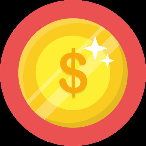 coin, dollar, money, shine icon