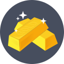 gold bars, gold bricks, gold ingots, gold reserve, gold pile icon