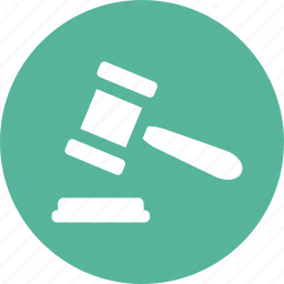 auction, court, gavel, hammer, judge, justice, law icon
