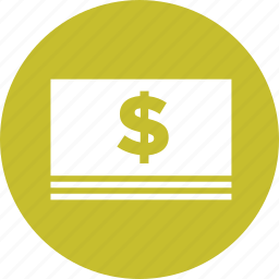 bill, cash, currency, dollars, finance, money icon