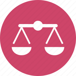 balance, judgement, justice, laws, scales, weighing icon
