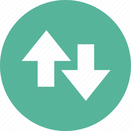 activity, arrows, direction, down, stock, up icon