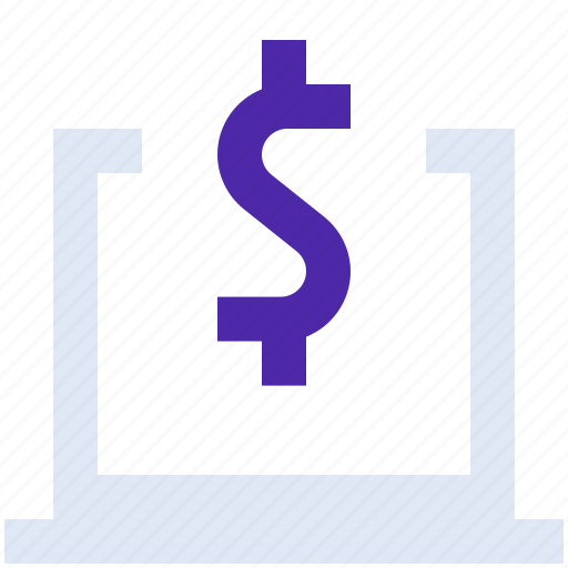 dollar, finance, laptop, money, online, payment, purchase icon