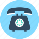 call, landline, phone, retro phone, telephone icon
