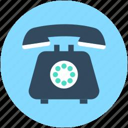 call, landline, phone, retro phone, telephone icon