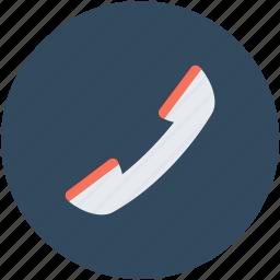 call, customer service, phone receiver, receiver, talk icon
