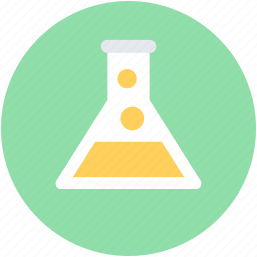 conical flask, flask, lab experiment, lab flask, research icon
