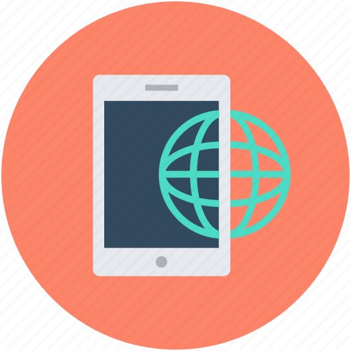 Cellphone, globe, mobile, mobile internet, smartphone icon - Download on Iconfinder