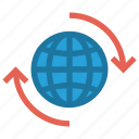 business, earth, finance, globe, international, marketing, world icon